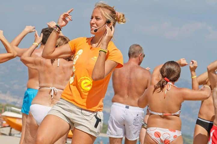aerobica in spiaggia a caorle